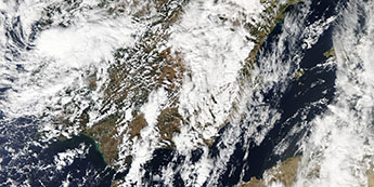 Satellite images of clouds collected by Aqua