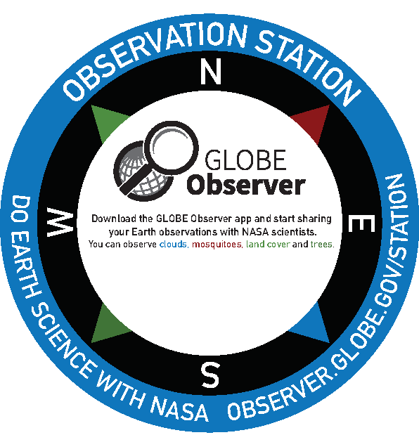 Generic Observation Station: Download the GLOBE Observer app and start sharing your Earth observations with NASA scientists. You can observe clouds, mosquitoes, land cover and trees.